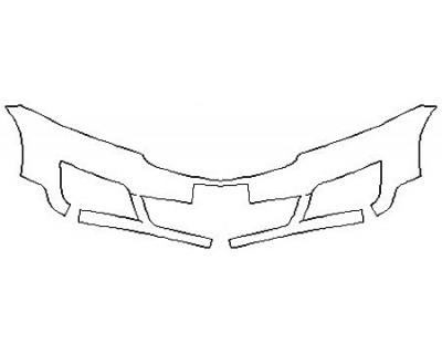 2017 CHEVROLET TRAVERSE PREMIER Bumper (1 Piece Plate cutout)