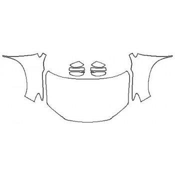 2020 HONDA RIDGELINE BLACK EDITION Full Hood(Wrapped Edges) Fenders Mirrors