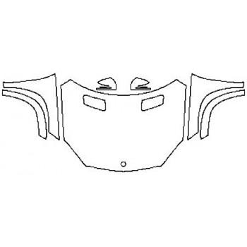 2017 MERCEDES GLS-CLASS GLS550 Full Hood Fenders Mirrors