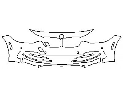 2017 BMW 3 SERIES 320I SEDAN BASE Bumper With Sensors