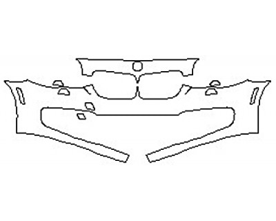 2017 BMW 5 SERIES 528I SEDAN BASE Bumper With Washers(2 Piece)