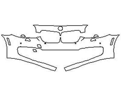 2017 BMW 5 SERIES 550I SEDAN LUXURY LINE Bumper With Sensors(2 Piece)