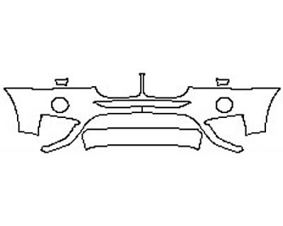 2017 BMW X4 XDRIVE28I BASE Bumper With Sensors(2 Piece)