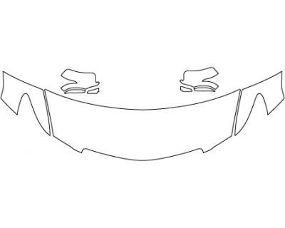 2017 ACURA RLX SEDAN ADVANCE Hood Fenders Mirrors (24 Inch)