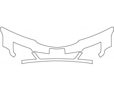 2017 CHEVROLET TRAVERSE LT  Bumper(with Plate Cut Out;30 Inch)