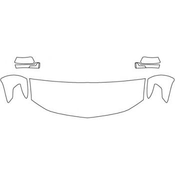 2018 CHEVROLET SUBURBAN LT  Hood Fenders Mirrors (24 Inch)