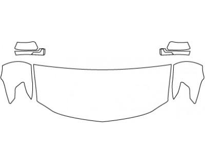 2018 CHEVROLET SUBURBAN LT  Hood Fenders Mirrors (30 Inch)