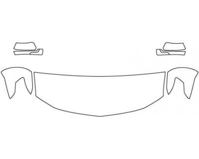 2020 CHEVROLET TAHOE LT  Hood Fenders Mirrors (24 Inch)