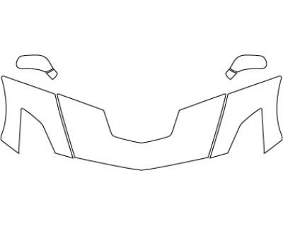 2018 CHEVROLET CORVETTE Z06  Hood Fenders Mirrors (24 Inch)