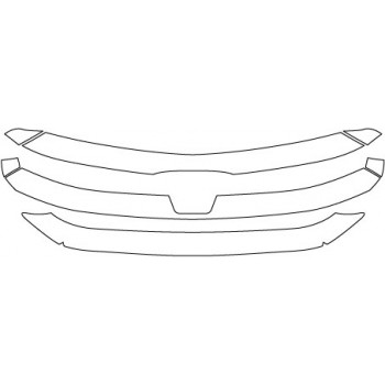 2018 FORD EDGE SPORT  Grille