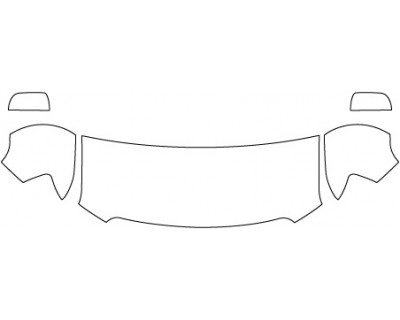 2020 GMC CANYON BASE  Hood Fenders Mirrors (24 Inch)