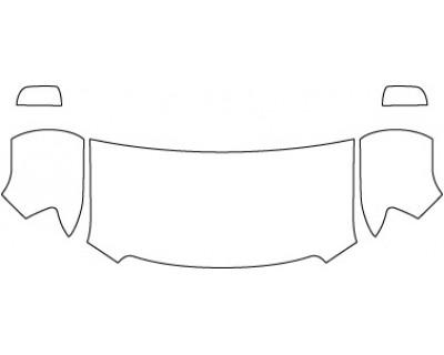 2020 GMC CANYON SLT  Hood Fenders Mirrors (30 Inch)