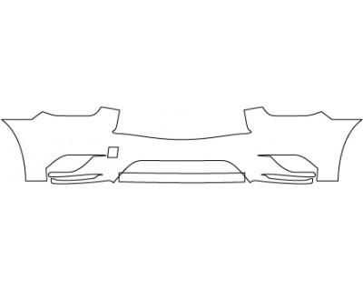 2014 INFINITI QX60 BASE  Lower Bumper(without Sensors)