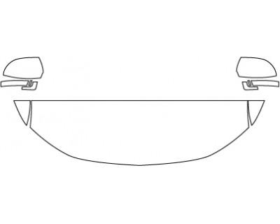 2018 MITSUBISHI OUTLANDER ES  Standard Hood Fenders Mirrors (18 Inch)