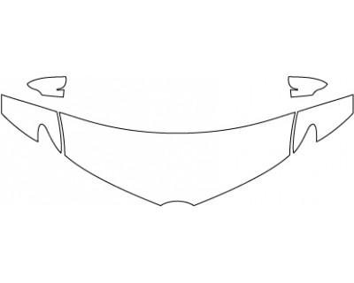 2016 SCION IM SV  Hood Fenders Mirrors (24 Inch)